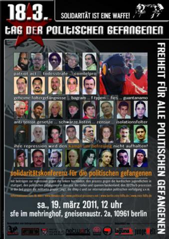 Affiche de la conférence de Berlin pour les prisonniers révolutionnaires
