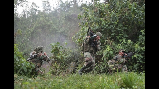 Commandos contre-guérilla au Pérou