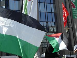 manifestation à Bruxelles pour les prisonniers politiques palestiniens