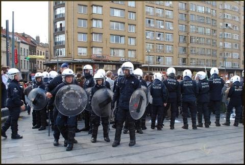 Répression de la manifestation des indignés