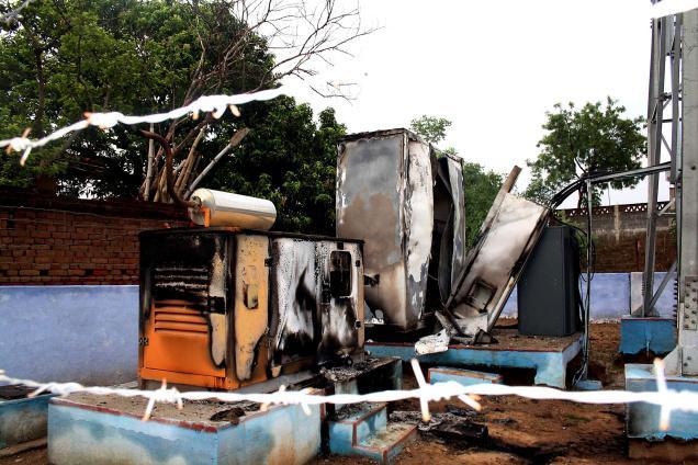 Incendie d'une gare en Inde