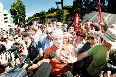 Aurore Martin à la manifestation