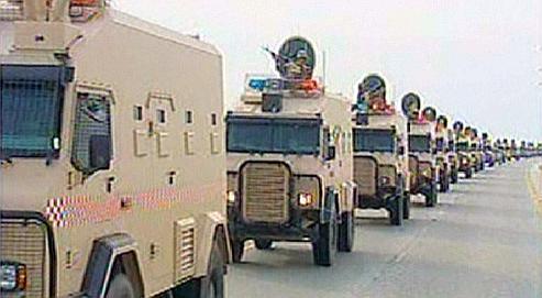 l'entrée de l'armée saoudienne au Bahrein