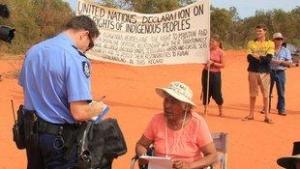 Manifestation écologiste/aborigène en Australie