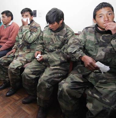 Militants du Sentier Lumineux arrêtés en Bolivie