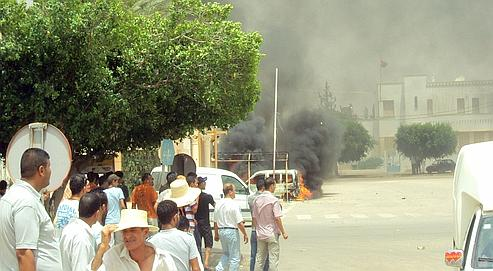 manifestation à Sidi Bouzid