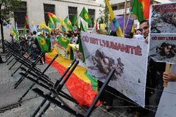 Manif contre les raids turcs au Kurdistan