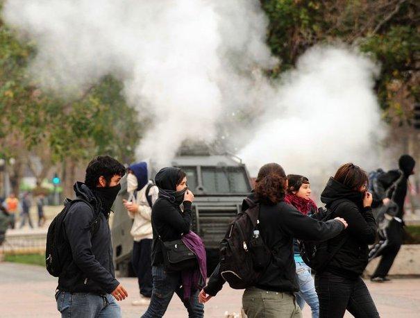 Manifestation à Santiago