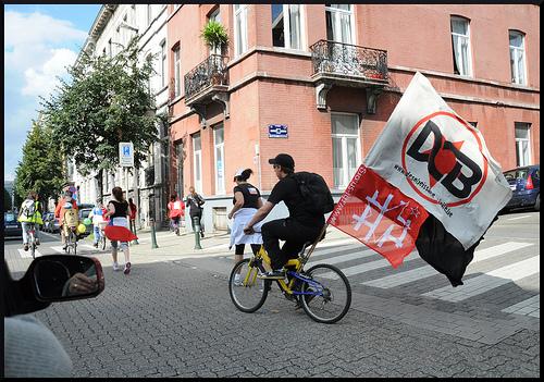 Manifestation en vélo pour le Chili
