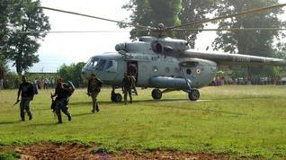 Hélicoptère pour la force Greyhound