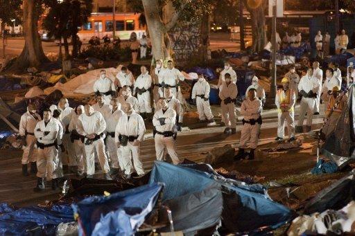 Evacuation d'un camp 'Occupy Wall Street'