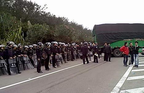 Manifestation dans le sud de la Chine