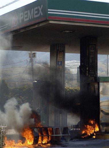 Répression d'une manifestation au Mexique
