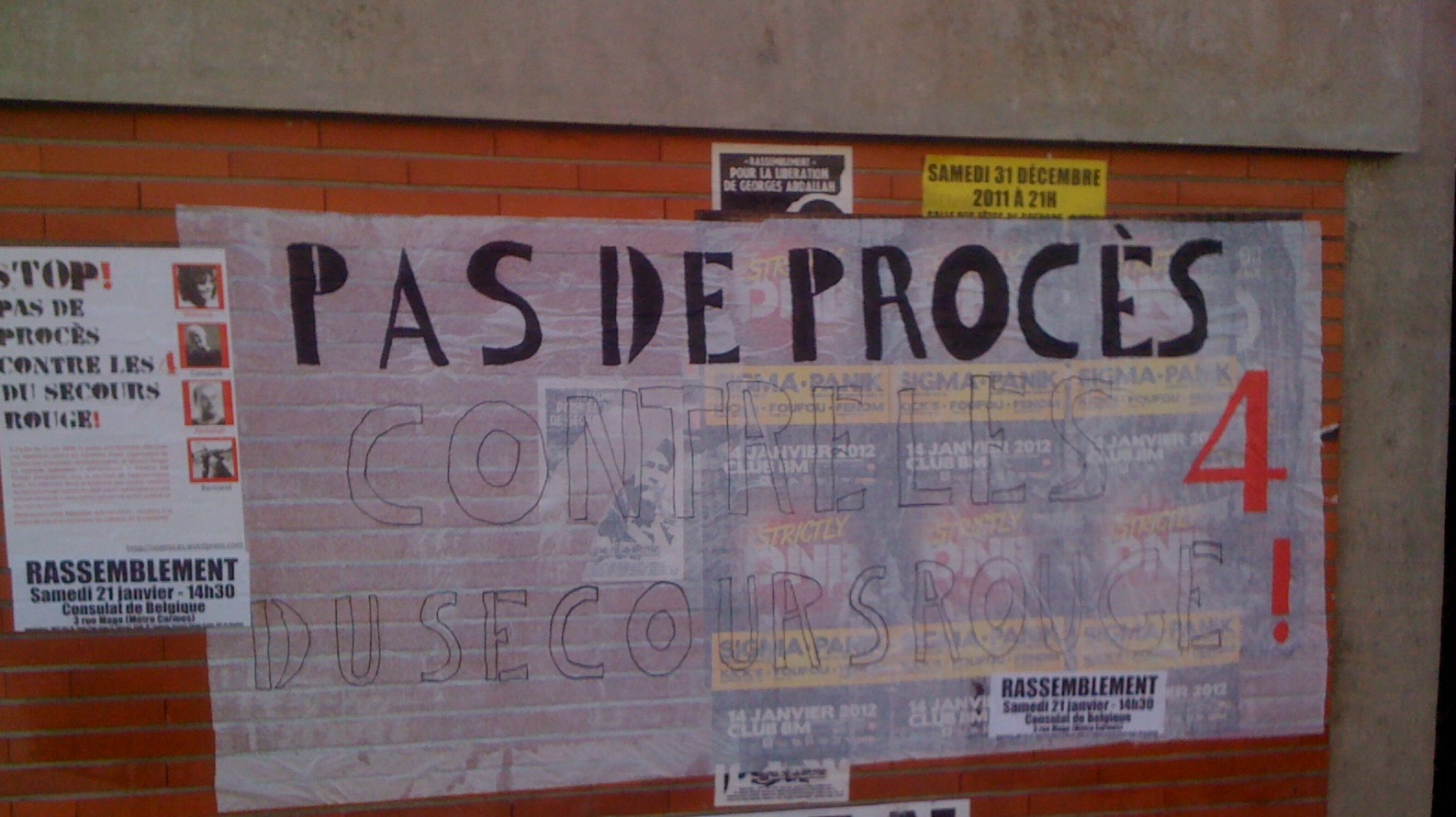 Manifestation pour les 4 à Toulouse