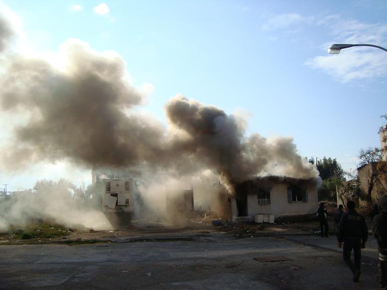Incendie d'une centre pour migrants à Patras