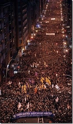 Manifestation pour les prisonniers basques