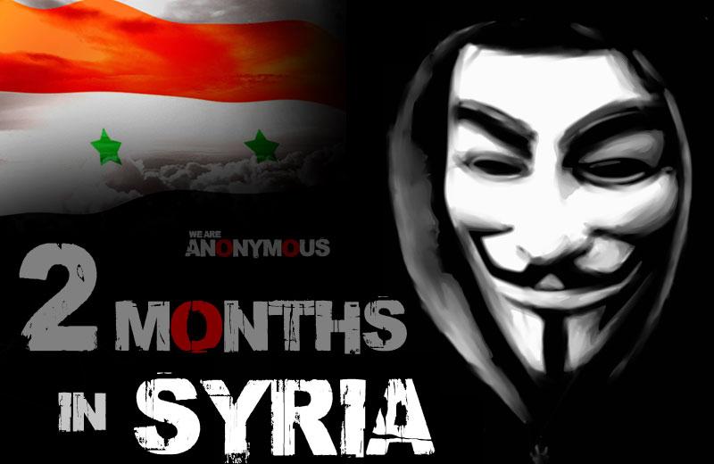Anonymous sur la Syrie