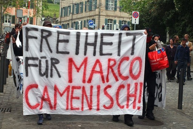 Manifestation pour Camenisch