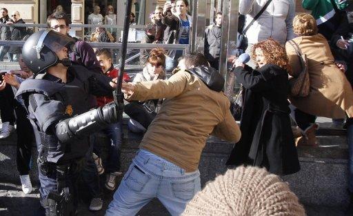 Manifestation estudiantine à Valence