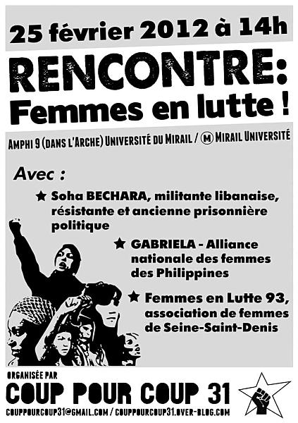 Affiche 'Femmes en lutte!'