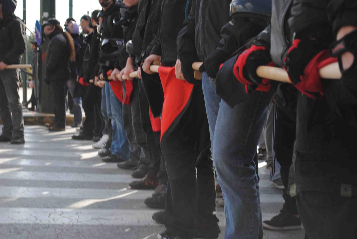 Manifestation anarchiste à Athènes