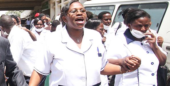 infirmières en grève au Kenya