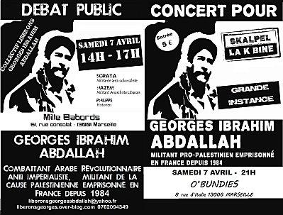 Action de solidarité avec Georges Abdallah