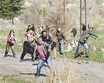 Manifestation dans la Dikmen Valley