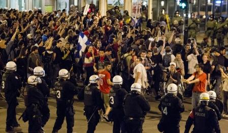 Manifestation et arrestations à Montréal
