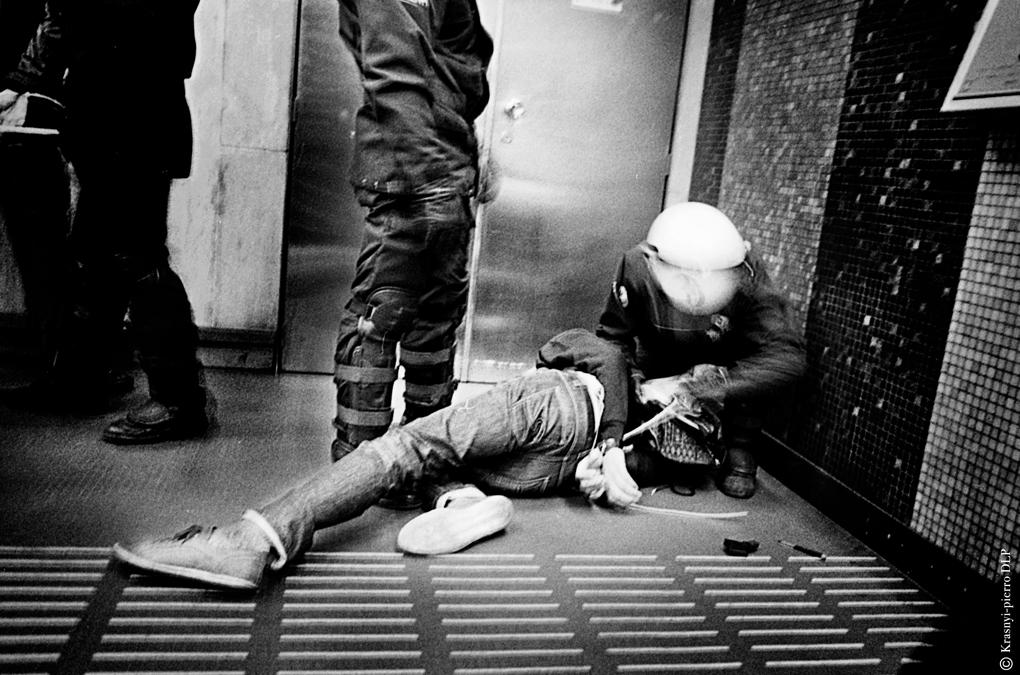 Arrestation d'un antifa à Bruxelles