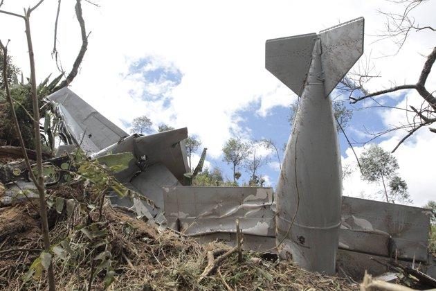 Débris d'un Super Tucano