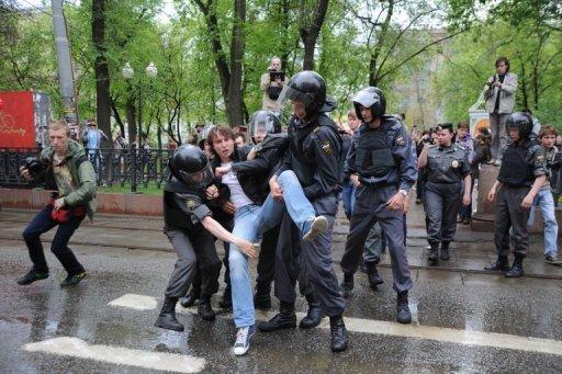 Arrestation d'un opposant à Moscou