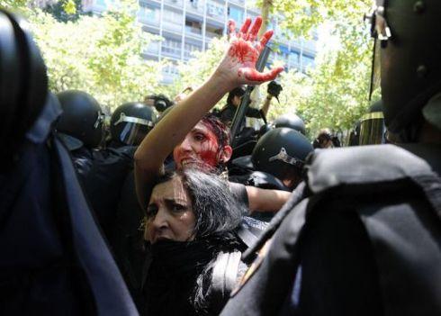 Heurts dans une manifestation à Madrid