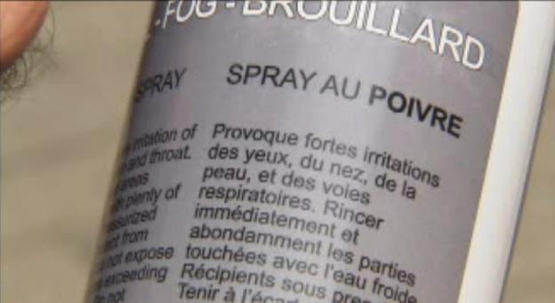 Une bombonne de Pepper Spray