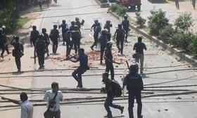 Heurts au Bangladesh