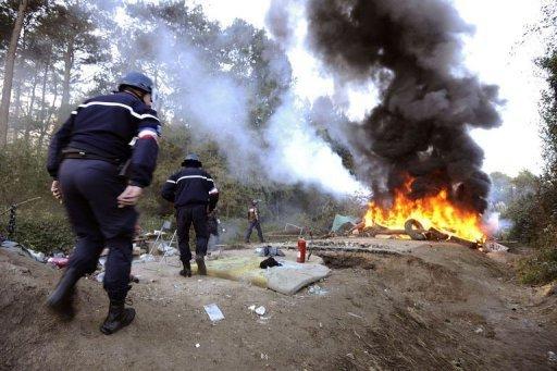 Opération policière à Notre Dame des Landes