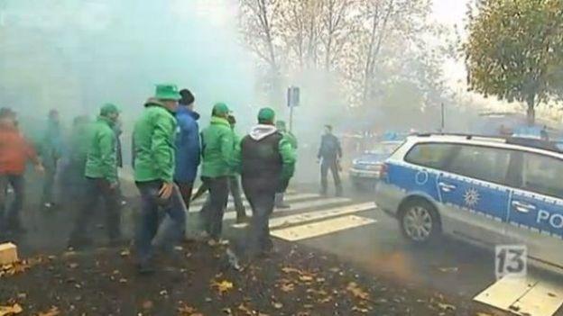 Manifestation des travailleurs de Ford Genk à Cologne