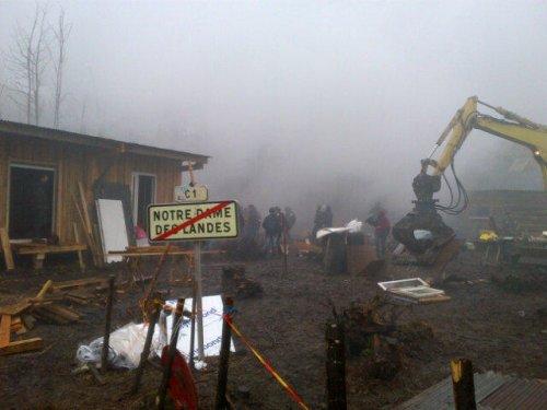 Opération d'évacuation à Notre-Dame-des-Landes