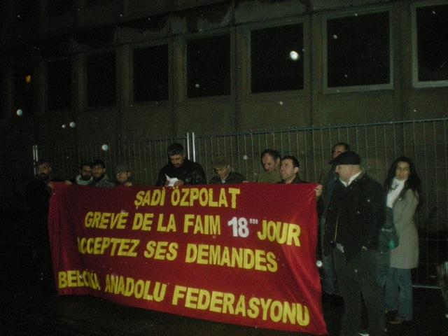Manifestation de solidarité avec Sadi Ozpolat en décembre 2012.