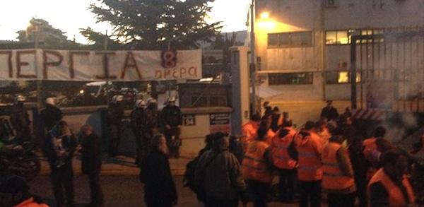 Police contre gréviste à Athènes