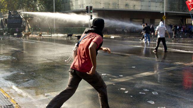 Manifestation estudiantine à Santiago
