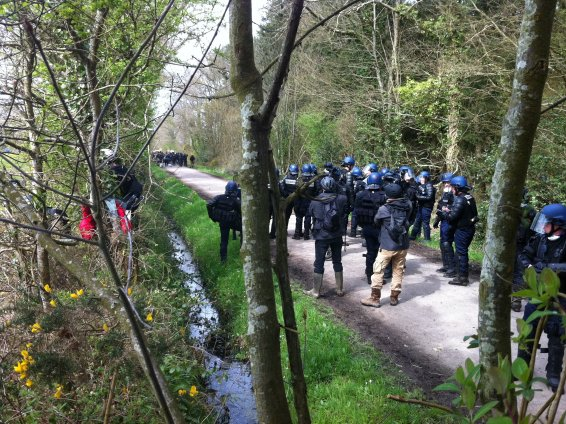 Affrontement à la ZAD