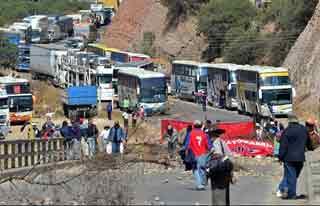 Barrage routier en Bolivie
