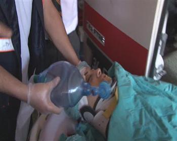 Manifestante blessée par la police
