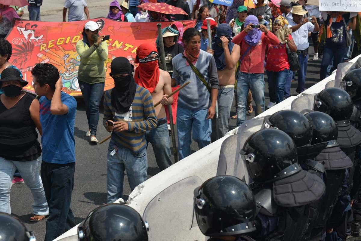 Manifestation de professeurs au Mexique