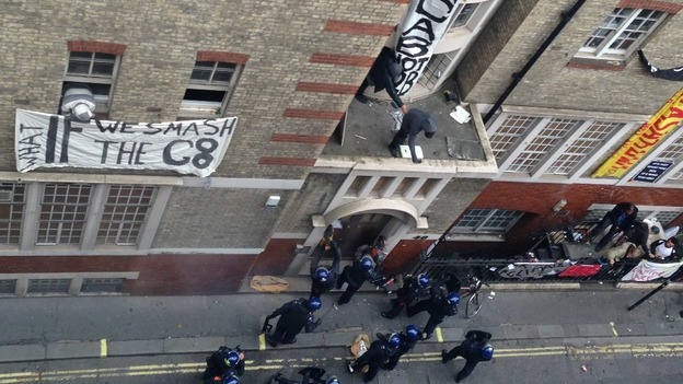 Intervention policière à Londres en marge du G8