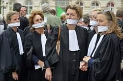 manifestation d'avocats à Bruxelles