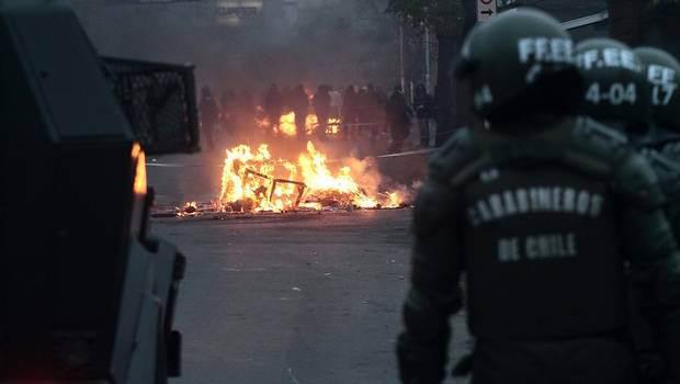 Répression à Santiago