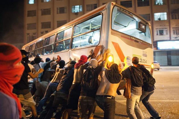 Manifestation Rio de Janerio 19 juin