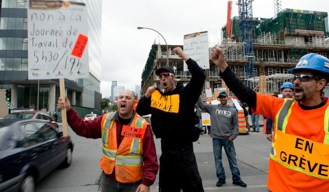 grève construction Québec